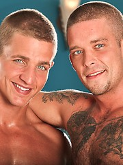 Muscle studs Marcus Mojo and Caleb Colton have gay anal sex
