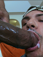 Castro blows a load over a young guys face