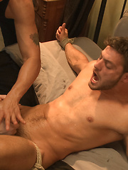 Super Hunk Andrew Blue Bound and Begging to Cum